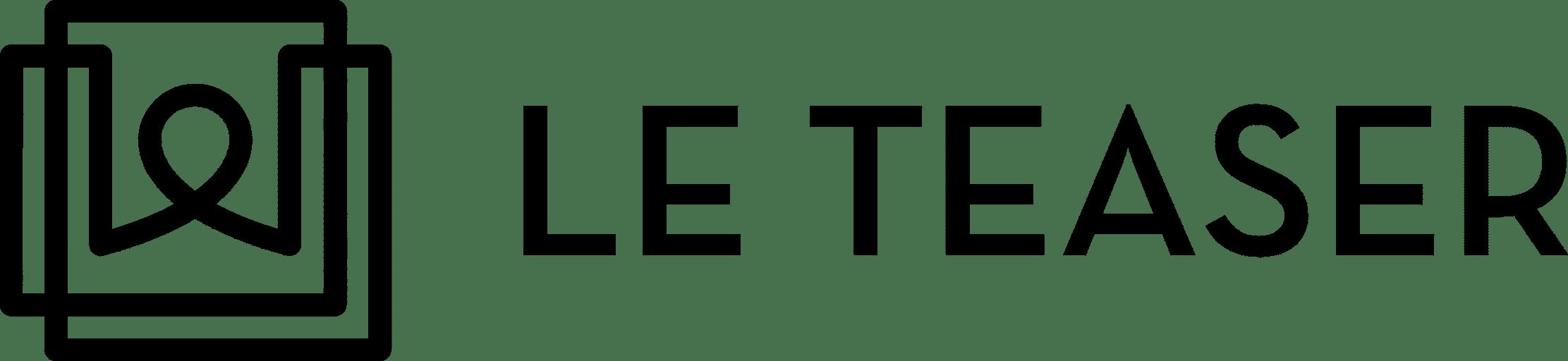 LE TEASER Logo Black