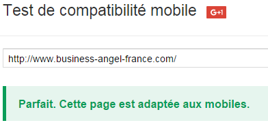 Business Angel France est Mobile Friendly
