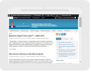 Business Angel France sur tablette