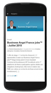 Business Angel France sur mobile