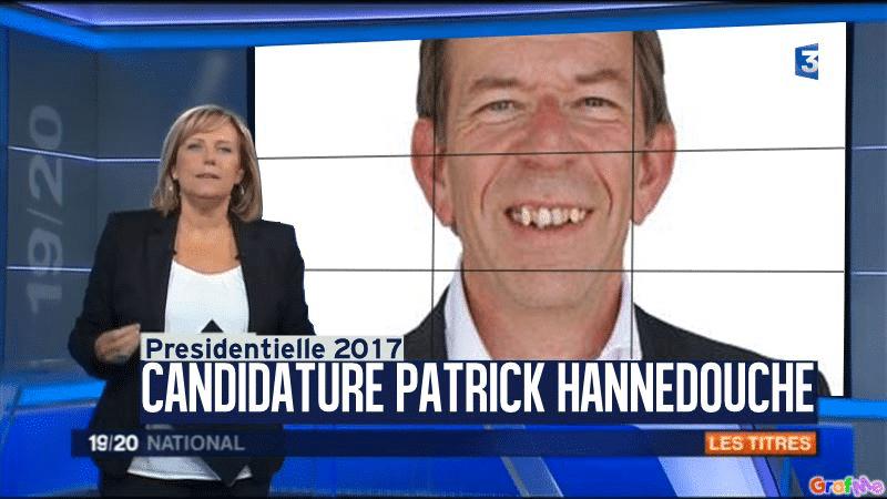 1° avril 2016 : Patrick Hannedouche candidat aux Présidentielles 2017