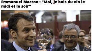 Moi, je bois du vin le midi et le soir